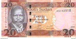 South Sudan - Pick 13 - 20 Pounds 2015 - Unc - Soudan Du Sud