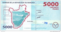 Burundi - Pick 53 - 5000 Francs 2015 - Unc - Burundi