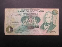 BILLET ECOSSE (V1719) ONE POUNDS (2 Vues) BANK OF SCOTLAND 08/09/1976 - Ecosse