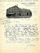 """Hôtel-restaurant Du """"Cheval Noir"""", Maison J. MARCERE, Pension De Famille, MORET Sur LOING, 1927 - Frankreich"""