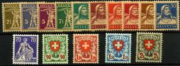 1448-Suiza Nº 207/11a Y 196/205 - Nuevos