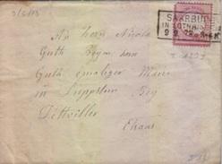 Lettre TP 1 Gr Rouge Obl. Saarburg In Lothringen (T 120 I) 09/02/73 Pour Dettwiller - Alsace-Lorraine