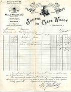 """Sté M. Et J. WILLOT, """"Société Du Crêpe Willot"""", ROUBAIX, 1908-1909 - Textile & Vestimentaire"""