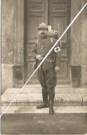 CARTE PHOTO MILITAIRE  Portrait Soldat POILU     Croix Rouge  Brancardier - Infirmiers 1916 - War 1914-18