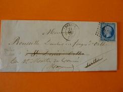 07-08.11.17_LAC De Rennes Sur N°14,Nuance A Voir,variétés,réexpediée,cachets Perlées Verso - Postmark Collection (Covers)