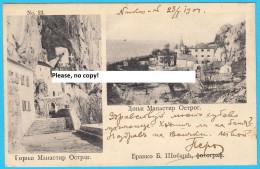 OSTROG ... Famous Serbian Monestery - Ortodox Church ( Montenegro ) * Travelled 1904. To Sophia * Serbia Religion RRRR - Montenegro