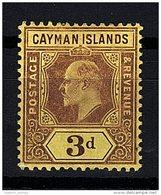 Cayman Islands, 1907, SG 28, Mint Hinged (Wmk Mult Crown CA) - Iles Caïmans
