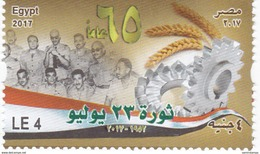 Egypt New Issue 2017,65th Ann Revolution 1vf.compl. Set MNH, Skrill PAY. ONLY - Nuovi
