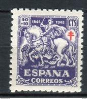España 1945. Edifil 995 ** MNH. - 1931-50 Unused Stamps