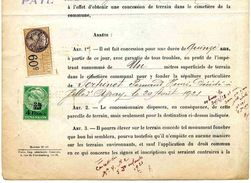 """Timbre Fiscal De """"Dimension"""" N° 90 Sur Document - Fiscales"""