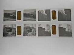 LOT DE 4 PHOTO STEREO PLAQUE DE VERRE FONTAINEBLEAU GORGES DE FRANCHARD - Photos Stéréoscopiques