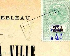 """Timbre Fiscal De """"Dimension"""" N° 65sur Document - Fiscale Zegels"""