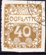 Tschechoslowakei CSSR - Portomarke (MiNr: 7) 1919 - Gest Used Obl - Timbres-taxe