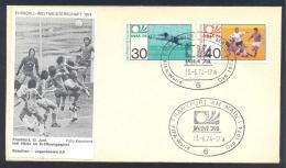 Germany 1974 Cover; Football Soccer Fussball Cacio FIFA WM WC World Cup Brasil - Yugoslavia 0:0 - Coppa Del Mondo