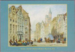 Grote Kaart Grand Format Uitgave: 2004 ? Mechelen Gezicht Op De Guldenstraat En Graanmarkt Korenmarkt - Malines