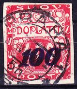 Tschechoslowakei CSSR - Portomarke (MiNr: 27) 1924 - Gest Used Obl - Timbres-taxe