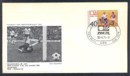 Germany 1974 Cover; Football Soccer Fussball Cacio FIFA WM WC World Cup Germany; DDR - Holland 0:2 - Coppa Del Mondo