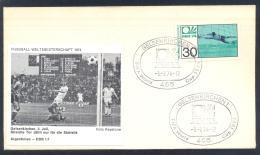 Germany 1974 Cover; Football Soccer Fussball Cacio FIFA WM WC World Cup Germany; Argentina - Germany DDR 1:1 - Coppa Del Mondo