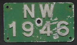 Velonummer Nidwalden NW 46 - Plaques D'immatriculation