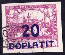 Tschechoslowakei CSSR - Portomarke (MiNr: 15b) 1922 - Gest Used Obl - Postage Due