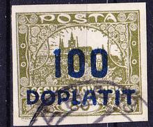 Tschechoslowakei CSSR - Portomarke (MiNr: 18b) 1922 - Gest Used Obl - Postage Due