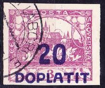 Tschechoslowakei CSSR - Portomarke (MiNr: 15a) 1922 - Gest Used Obl - Postage Due