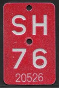 Velonummer Schaffhausen SH 76 - Plaques D'immatriculation