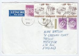 2001 Air Mail SLOVENIA Stamps COVER Maribor To GB  , Lace Etc - Slovenia