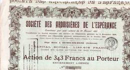Société Des Ardoisiéres De L'Espérance - 1927 - Textile