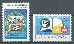 Madagascar YT N°985/986 Année Internationale De L'alphabétisation Neuf ** - Madagascar (1960-...)