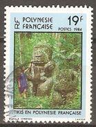 POLYNESIE  Française    -  1984 .  Y&T N° 211 Oblitéré .   Statues  TIKIS - French Polynesia