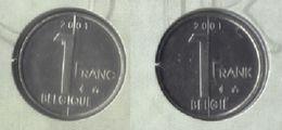 1 Frank 2001 Frans+vlaams * Uit Muntenset * FDC - 1993-...: Albert II