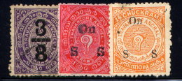 INDIA, FEUDATORY STATES, (TRAVANCORE), NO.'S 11, O2 AND O35 - Travancore