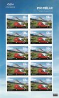 Iceland 2013 MNH Minisheet Of 10 Postal Delivery Van - EUROPA - Blocks & Sheetlets