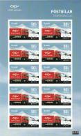Iceland 2013 MNH Minisheet Of 10 Postal Delivery Truck - EUROPA - Blocks & Sheetlets