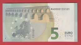 LOW SERIAL NUMBER - MA0000135101 - 5 EURO M001 A6 PORTUGAL UNC - NEUF - FDS - EURO