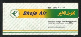 Pakistan Bhoja Airline Transport Ticket Used Passenger Ticket 3 Scan - Unclassified