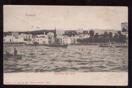 POZZUOLI - NAPOLI - CARTOLINA VIAGGIATA NEL 1905  PANORAMA DAL MARE - Napoli