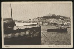 NAPOLI -   1925 - CASTEL SANT'ELMO VISTO DAL PORTO - CARTOLINA ORIGINALE D'EPOCA - Napoli
