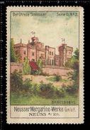 German Poster Stamps, Reklamemarke, Vignette, Berühmte Schlösser, Famous Castles, Babelsberg, Palace, Burg - Castillos