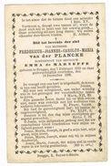 BRUGGE - Doodsprentje Van Fredericus - Joannes - Carolus Van Der PLANCKE   + In 1882 - Devotion Images
