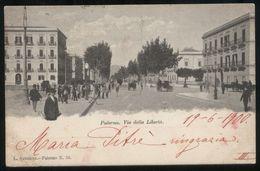 PALERMO - 1900 - VIA DELLA LIBERTA' - ANIMATISSIMA - Palermo