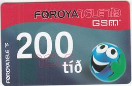 FAROE ISL. - Faroe Telecom Prepaid Card KR 200, Exp.date 01/06/05, Used - Faroe Islands