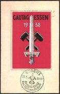 """Seiden-Karte """"Gautag Der NSDAP 1939"""", Sehr SELTEN Als Gelaufen !!! - Deutschland"""