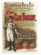 Reproduction Affiche Publicitaire Chapuis : Dufouleur Et Fils Vin Clos Vougeot Cuvée Napoléon 1er Ed Clouet - Reclame
