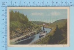Cap Breton Quebec - Boat Sealing On St. Peter's Canal , PECO - Postcard Carte Postale - Cape Breton