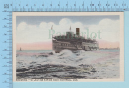 Montreal Quebec - Hamilton Steam Boat Shooting The Lachine Canal - Postcard Carte Postale - Paquebots