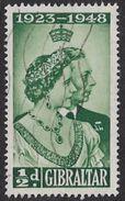 Gibraltar SG134 1948 Royal Silver Wedding ½d Good/fine Used [35/29653/2D] - Gibraltar