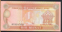 °°° TURKMENISTAN - 1 BIR MANAT °°° - Turkmenistan