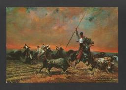 ART PTCARD Sg A.Palmero - SPAIN ESPAÑA FIGHTENED BULLS HORSES  BULLFIGHT TORADAS - Postcards